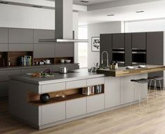 Contemporary style kitchen designs are among the methods to go. You do not require a complicated kitchen so it will be stick out, just some unique designs that can make your kitchen area the envy of the neighbors. Luxury Kitchen Design, Kitchen Room Design, Contemporary Kitchen Design, Kitchen Cabinet Design, Luxury Kitchens, Home Decor Kitchen, Kitchen Living, Interior Design Kitchen, New Kitchen