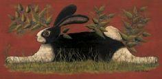 Red Folk Art Bunny