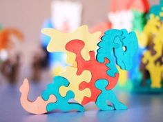 DRAGON Puzzle. Wooden toys wooden animal by ArtGiftStoreEcoToys