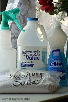 Homemade Laundry Stain Remover: ammonia, Dawn & washing soda