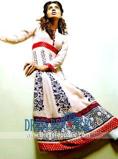 Off White Kristen, Product code: DR1836, by www.dressrepublic.com - Keywords: Hand Embroidered Shalwar Kameez Pakistan, Hand Embroidery Shalwar Kameez