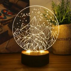 Neon Quotes, Woodworking Lamp, Dream Rooms, Led Lamp, Laser Engraving, My Room, Night Light, Glass Art, Diy And Crafts