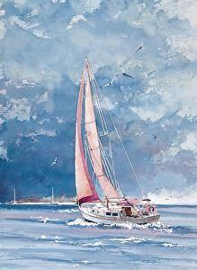 Misty by Gene Rizzo Giclee Prints ~ 11x15 12x16 15x22 16x24 22x30 24x32 32x44 36x48 x x