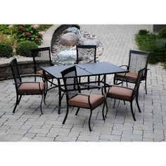 Bordeaux 7 Piece Hand Woven All-weather Wicker Patio Dining Set with ...