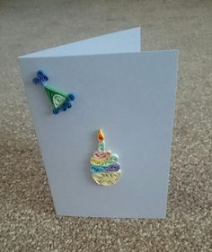 Birthday Card: Personalised Handmade Quilled by BavsCrafts on Etsy