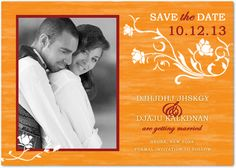Natural Floral Bright Wedding Save The Dates HPS049