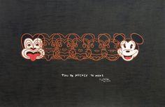 Dick Frizzell, Mickey to Tiki (Reversed), screenprint on 695 x 1000 mm paper, from an edition of Fine Art Prints, Framed Prints, New Zealand Art, Nz Art, Kiwiana, Art Series, Contemporary Artwork, Box Frames, Print Artist