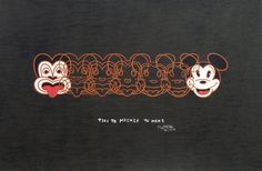 Dick Frizzell, Mickey to Tiki (Reversed), screenprint on 695 x 1000 mm paper, from an edition of 500, 2012.
