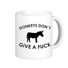 SthAmazing Donkey Don??T Give A Fuck Photo On Mug Mug Coffee *** See this awesome image  : Cat mug