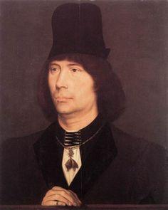 Portrait of Anthony of Burgundy via Hans Memling    Size: 35.5x45 cm  Medium: oil