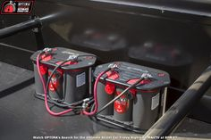 Dual OPTIMA #REDTOP batteries for double the cranking power