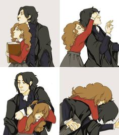 Snape and Hermione.