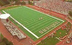 Nickerson Field 1960-62; Boston Patriots Baseball Park, Baseball Field, Football Stadiums, College Football, Youngstown State, Sports Stadium, Boston University, Vintage Football, Boston Massachusetts