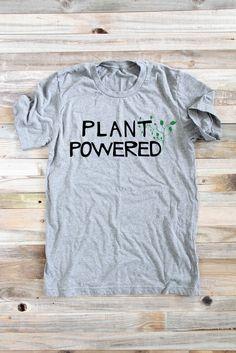 Items similar to Vegan Shirt - Plant Powered Shirt - Vegan T Shirt - Vegan Tshirt - Vegan Tee - Yoga - Yoga Shirt - Yoga Top - Yoga Clothes - Womens Clothing on Etsy Namastay In Bed Shirt, T Shirt Vegan, Mermaid Shirt, Mermaid Top, Vegan Clothing, Women's Clothing, Beach Shirts, Women's Shirts, Summer Shirts