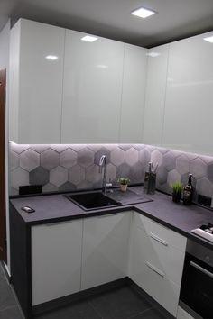 Simple Kitchen Design, Kitchen Cabinet Design, Interior Design Kitchen, Small Kitchen Plans, Smart Kitchen, Interior Simple, Interior Modern, Diy Kitchen Decor, Diy Kitchen Storage