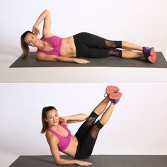 Get ready to work those hard-to-reach obliques with this equipment-free ab exercise.