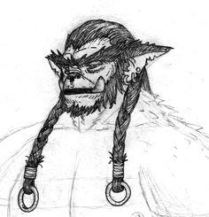 Goblinoid Study - Bugbear by longeye.deviantart.com