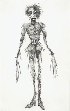 Tim Burton's Concept Art for 'Edward Scissorhands'
