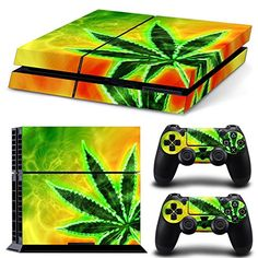 Skin Ps4 Slim Cannabis Bob Marley Limited Edition Decal Cover Playstation 4 Video Game Accessories