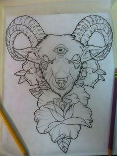 goat head tattoo designs - Google Search - Google Search