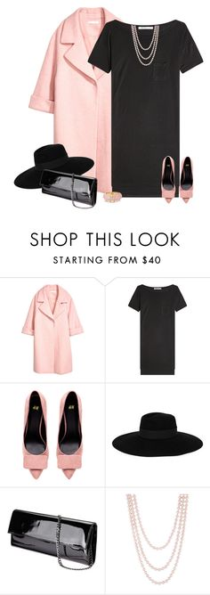 """black loves baby pink"" by bodangela ❤ liked on Polyvore featuring T By Alexander Wang, Maison Michel, Henri Bendel and Kate Spade"