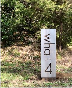 NZ made house number by LisaSarah Steel Designs Steel House, Address Plaque, Corten Steel, Writing Numbers, Good House, House Numbers, Brushed Stainless Steel, Black House, Custom Homes