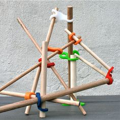 build a fort! - Stick-lets: Reconnecting Children with Nature Through Play Fort Building Kit, Build A Fort, Building Toys, Fort Kit, Gifts For Boys, Wooden Toys, Crafts For Kids, Let It Be, Ideas