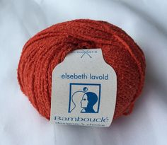 BAMBOUCLE WARM RED 014 Yarn by Elsebeth Lavold / Knitting Fever Inc./Cotton Bamboo Linen Nylon / Crafted in Italy by dcoyshouseofyarn on Etsy
