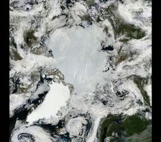 Mosaic of the Arctic -- North Pole, June, 2011 by NAXA Goddard Space Flight Center