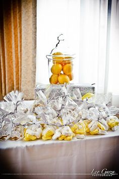 Simple cute grey and yellow baby shower idea, (and I like the prize idea, scarves in the theme color)