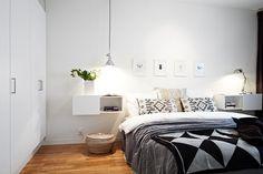 Sängbord, Bilder, Sovrum, Kuddar, överkast, Säng, Garderober - Hemnet Inspiration