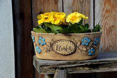oválný truhlík č.1-flowers-modré kyti-ihned / Zboží prodejce lavender | Fler.cz Red Berries, Venus, Planter Pots, Venus Symbol