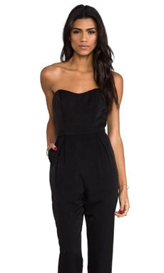keepsake Playing With Fire Pantsuit in Black   REVOLVE $126