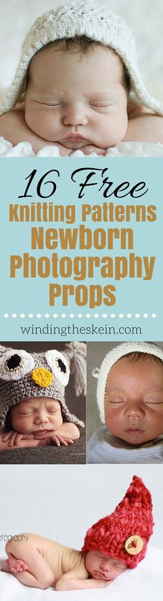 16 Free Knitting Patterns for Newborn Photography Props - Making your own…
