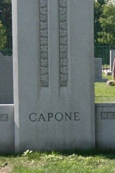 resting place of Al Capone-- -gangster, murderer and buried in a Catholic cemetery. Go figure?