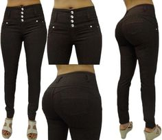 ORIGINAL COLOMBIAN JEAN Premium Levanta Cola Push-up BROWN HIGH WAIST Rise Skinny Jeans Brand: Divas Find this at Dress World: trendy clubbin styles, fashionable party dress and bar wear, super hot clubbing clothing, partying clothes, super cute and sexy club fashions. EVERYDAY FREE SHIPPING #ShopDressWorld #FlyFashionDoll #InstaFashion #InstaGood #Fashion #Follow #Style #Stylish #Fashionista