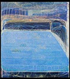 """sharon horvath, """"in a mirror"""" 2007, Dispersed pigment and polymer on canvas, 74 x 66 inches"""