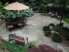 Crazy Paving Design Flagstone Sitescapes Landscape Design Stony Brook, NY