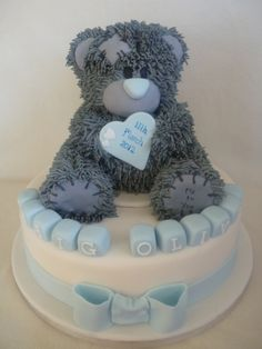 Me to You bear christening cake By josiejoe on CakeCentral.com