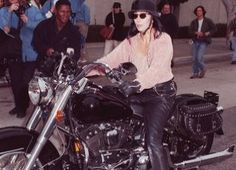 A huge fan of wearing leather and zippers, it is only natural that Cher would have a passion for motorcycles. The singer/actress has been riding Harleys for years.