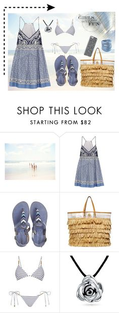 """Untitled #295"" by irene-loves-shoes-xo ❤ liked on Polyvore featuring She Hit Pause Studios, Chloé, Laidback London, Tory Burch, Melissa Odabash and Bling Jewelry"