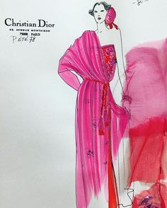 Every woman should have something pink in her wardrobe. It is the color of happiness. -Christian Dior- Fashion illustration Summer 1978. 💝💖💗 #paris #fashionillustration #dior #dioraddict #mariagraziachiuri #fashion #fashionista #fashionblog #fashionblogger #parisfashionvintage #parisfashionweek #ootd #outfit #fashiondesigner #fashionstylist #avenuemontaigne #luxury #luxurylife #instablogger #instablog #parismonamour #parisjetaime #vintage #vintageshop #vintagefashion