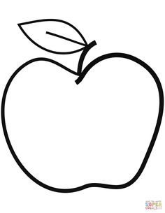 Apple with Leaf coloring page from Apples category. Select from 27215 printable . - Apple with Leaf coloring page from Apples category. Select from 27215 printable crafts of cartoons, - Apple Coloring Pages, Leaf Coloring Page, Coloring Books, Printable Crafts, Printables, Printable Templates, Letter P Crafts, Drawing Apple, Fall Arts And Crafts