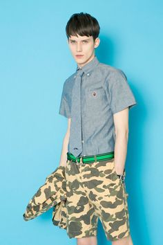 Bathing Ape Spring-Summer Casual and Tailored Men's Collection 2018 Summer Wear, Spring Summer, Summer 2014, Men's Collection, Summer Collection, Pin Man, Summer Lookbook, A Bathing Ape, Elegant Outfit