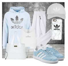 """Adidas Baby Blue"" by mommastephud ❤ liked on Polyvore featuring adidas Originals, adidas, Topshop and Casetify"