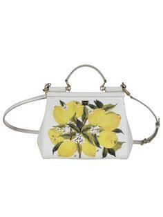 DOLCE & GABBANA Dolce & Gabbana Lemon Print Medium Sicily Tote. #dolcegabbana #bags #shoulder bags #hand bags #leather #tote