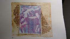 Placa acetato puzle punta seca Madrid 1996 Estampa P/A_2015