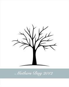 Free Printable Fingerprint Tree and Free Printable Handprint Tree ...