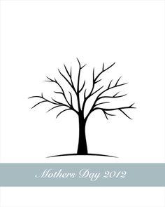 Free Printable Fingerprint Tree and Free Printable Handprint Tree ...