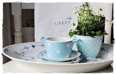 Greengate, spot blue, musselmalet, Danish design, Bing og Grøndahl, Havets Sus, Denmark